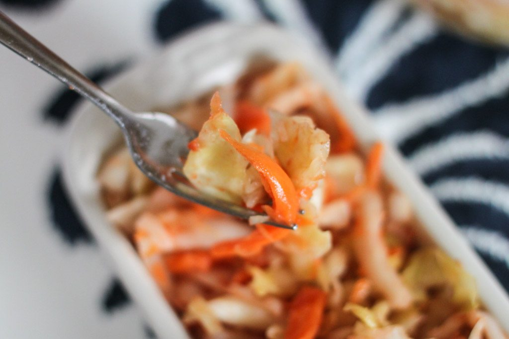Sauerkraut with cabbage and carrots