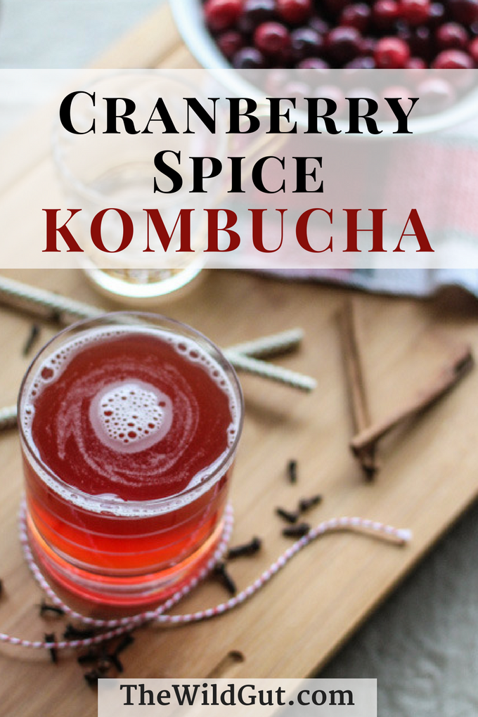 Cranberry Spice Kombucha is perfect for the holidays!
