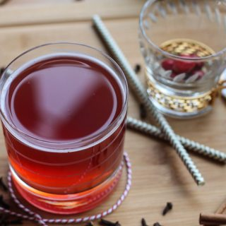 Cranberry spice kombucha recipe to make at home!
