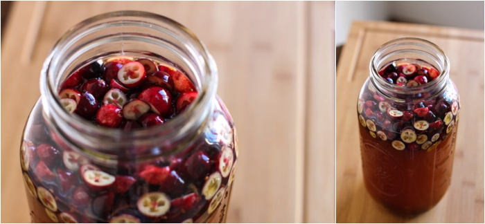 Make this cranberry spiced kombucha for next holiday dinner!