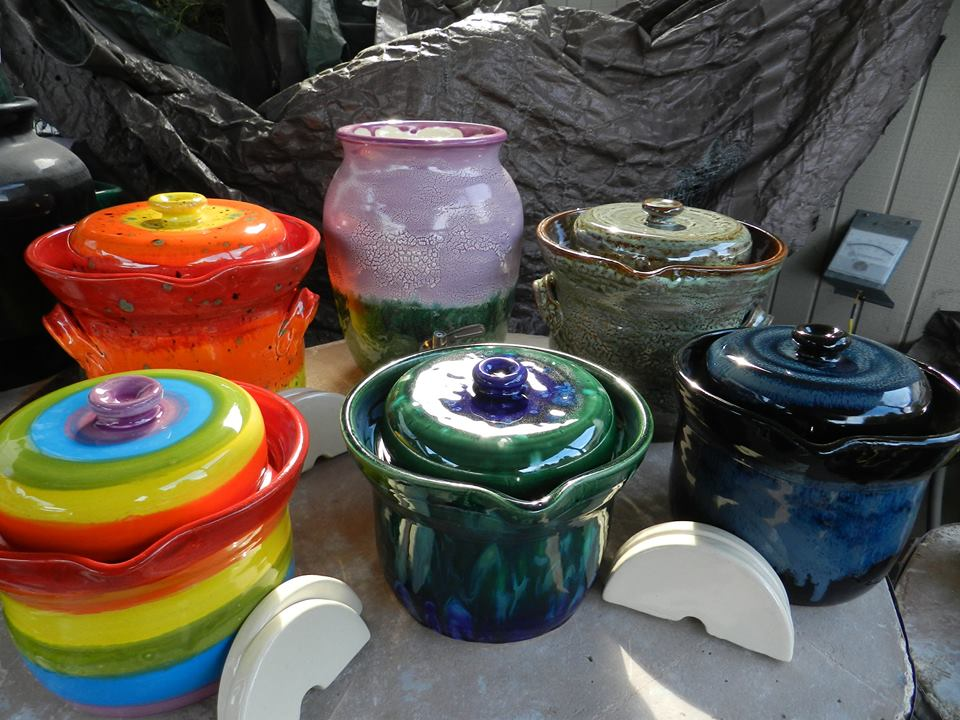 Mark Campbell ceramic crocks make beautiful gifts for fermenters!