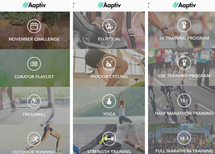 Aaptiv app fitness classes