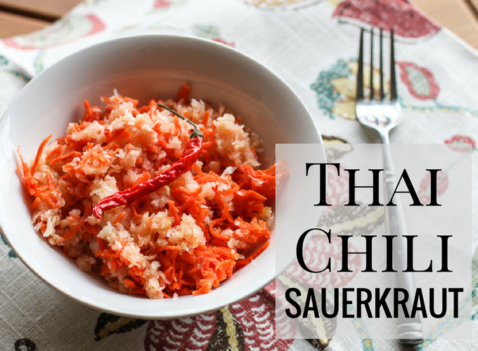 Spice up your sauerkraut with Thai chili peppers!