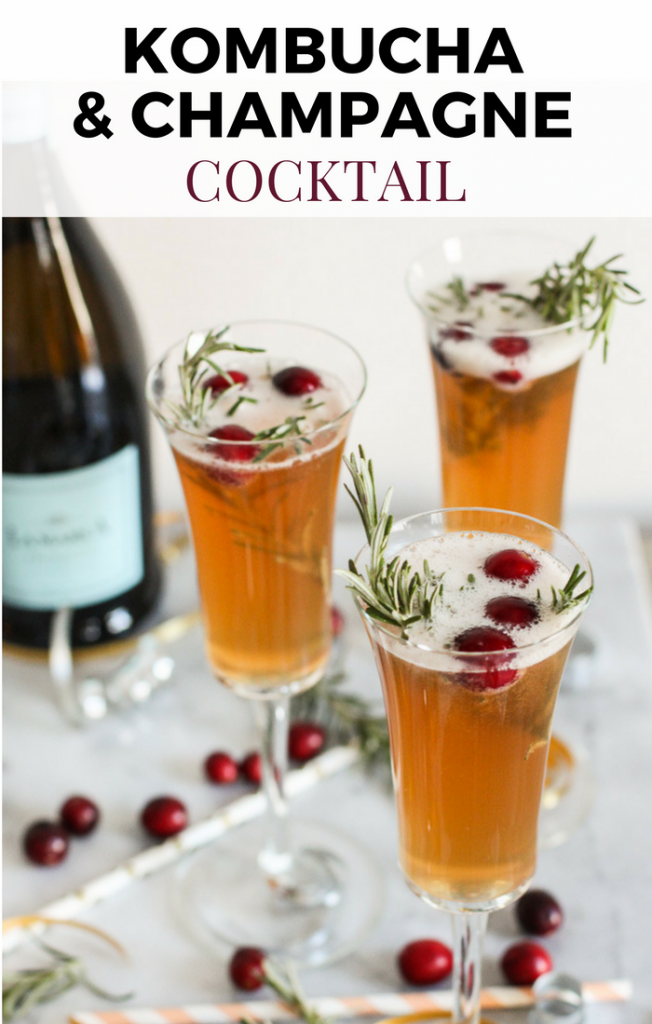 Kombucha and Champagne Cocktails are perfect for New Years Eve!