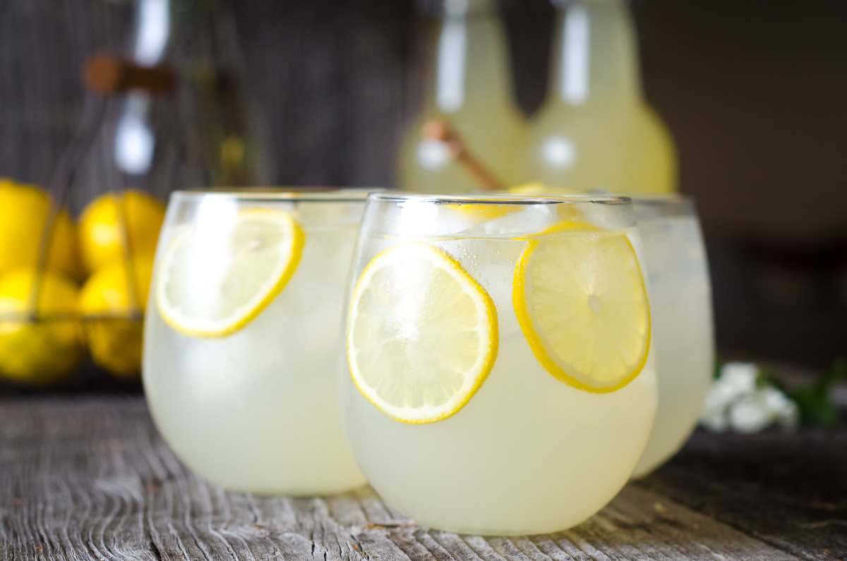 Probiotic honey lemonade from Nourished Kitchen