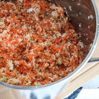 The best sauerkraut base, cabbage and carrots!