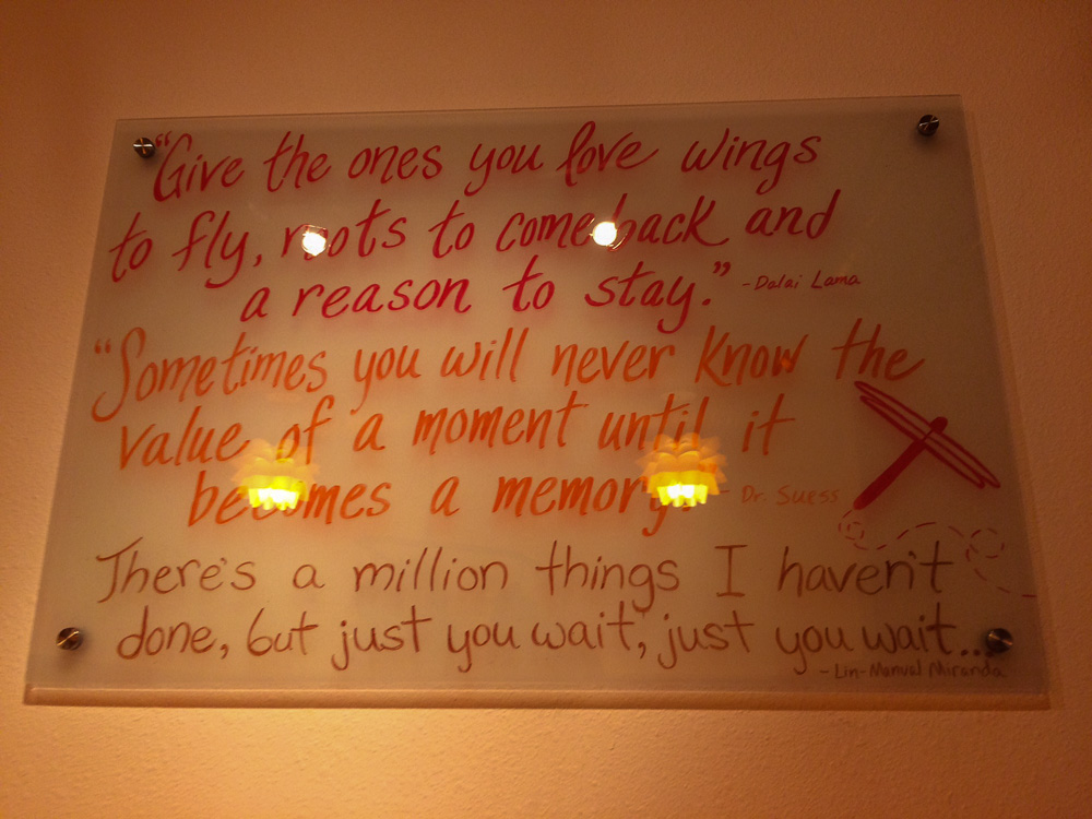 Inspirational quotes at Dragonfly Hot Yoga