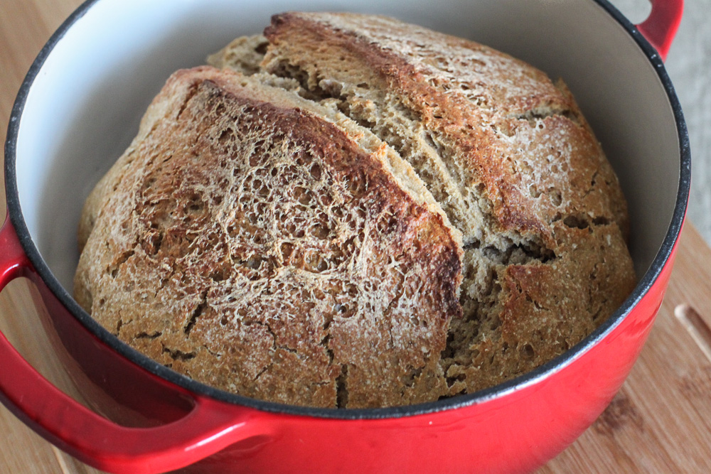Super Easy Sourdough Bread Dutch Oven Style The Wild Gut