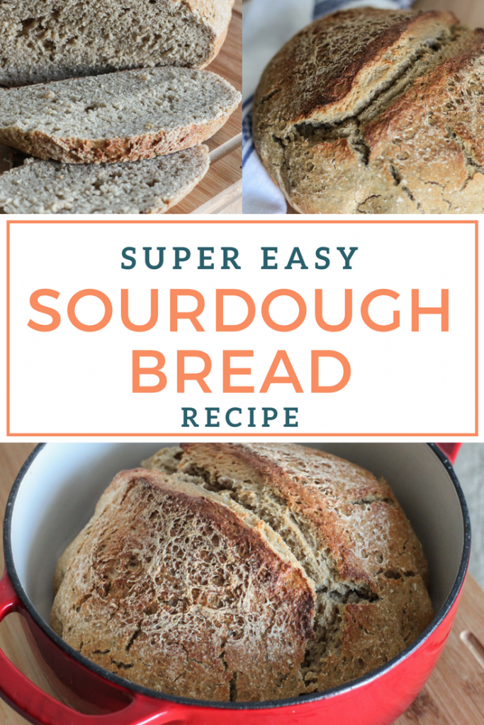 Super easy dutch oven sourdough bread recipe!