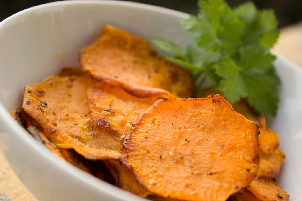 Sweet potato chips are a prebiotic food!