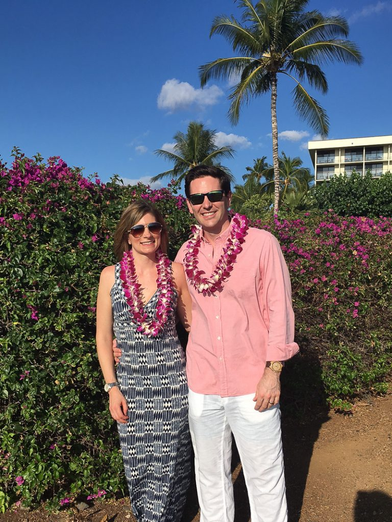 Alana and Matt at a luau