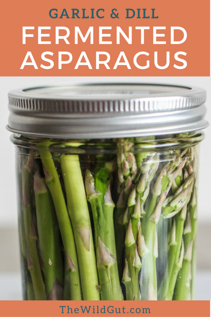 Garlic and Dill Fermented Asparagus