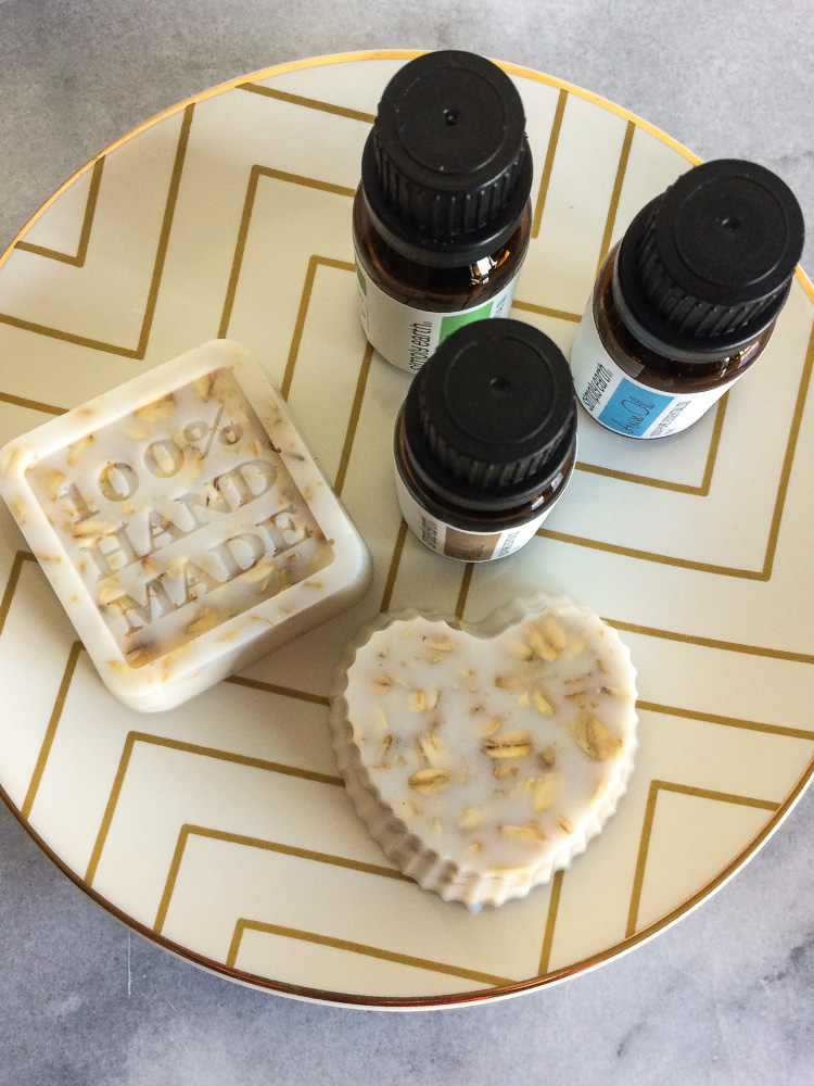 Homemade soap using essential oil blends!