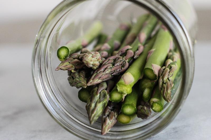Lacto fermented asparagus stalks