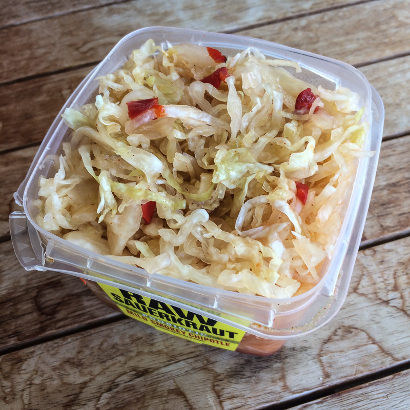 Sauerkraut available on the Big Island