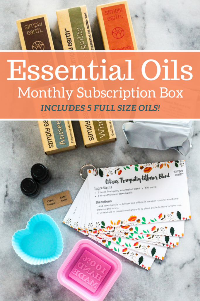 This essential oils subscription box has everything you need for a safe and natural home! Plus, each box includes five full size oils!
