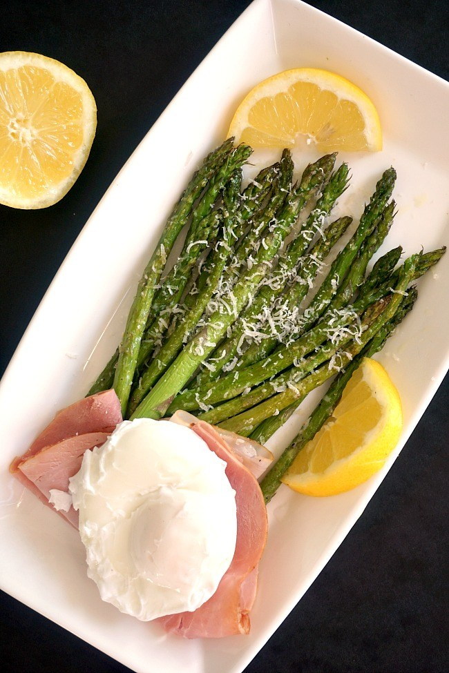 Roasted Asparagus with Ham