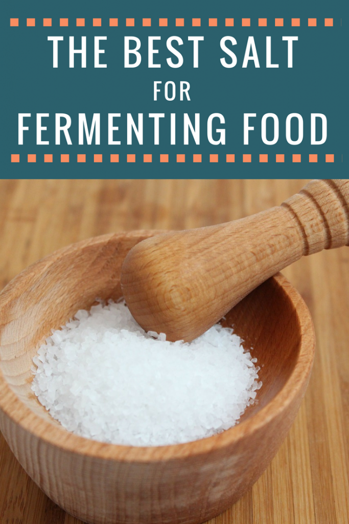 The best salt for fermenting food like sauerkraut and kimchi!
