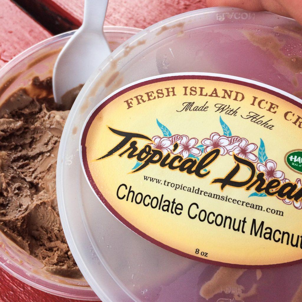 Local ice cream on the Big Island Hawaii