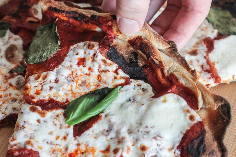 thin 'n crispy sourdough pizza!