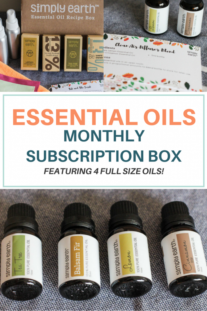 This Essential Oil Subscription Box features monthly DIY recipes for natural personal and household care. You'll gain confidence in making your own essential oil products for your family!
