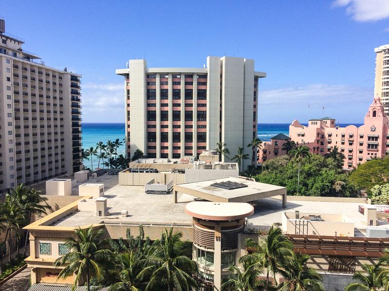 Ocean view at Holiday Inn Beachcomber in Honolulu