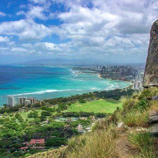 View from Diamond Head in Hawaii!