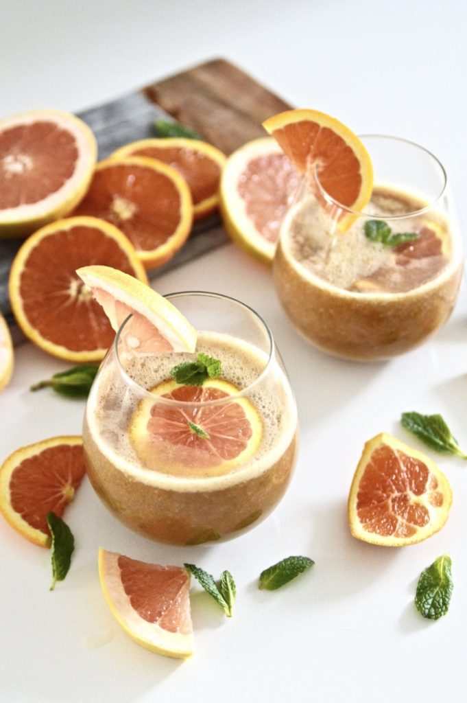 Citrus Mint Kombucha Cocktail recipe
