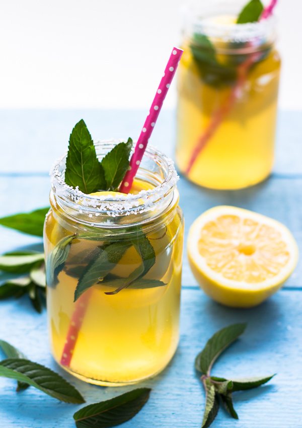 Mint lemonade water kefir recipe