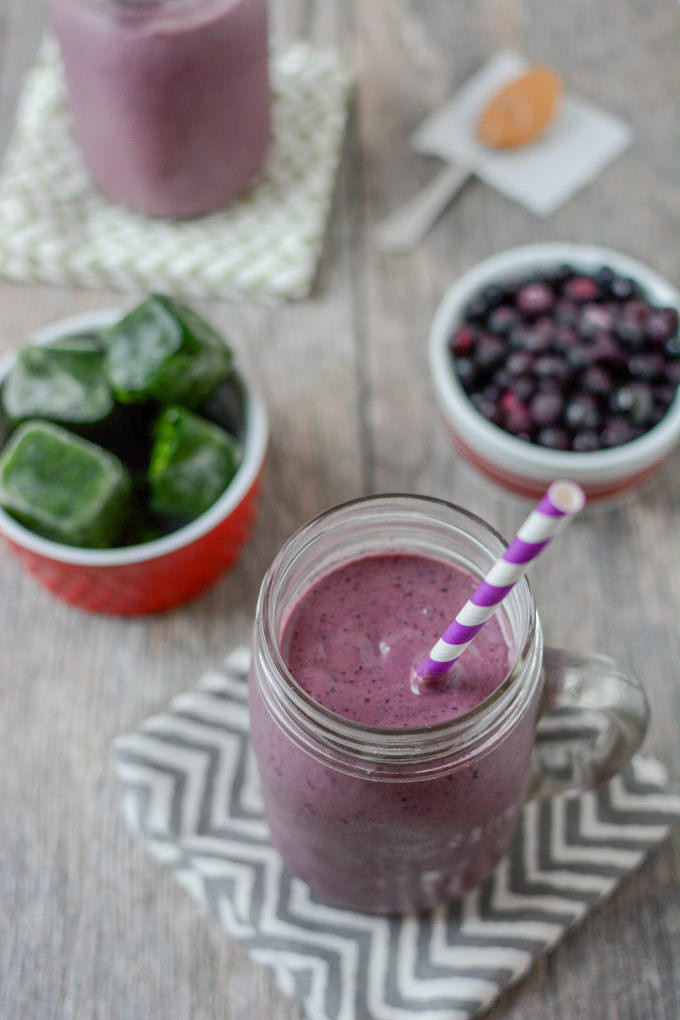 Wild Blueberry Kefir Smoothie!