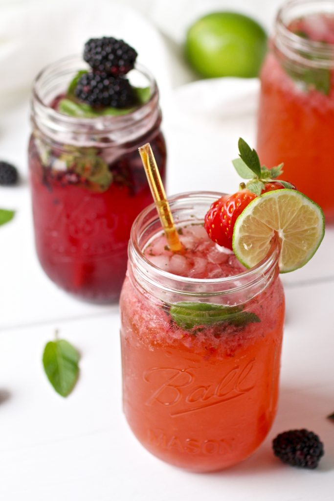 Strawberry Kombucha Mojito from The Real Food Dietitians!