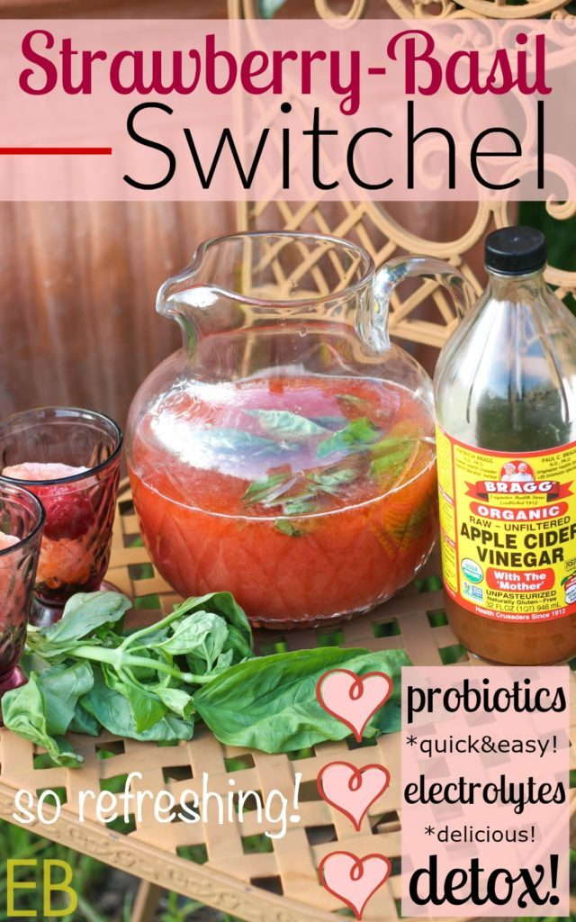 Strawberry Basil Switchel Recipe