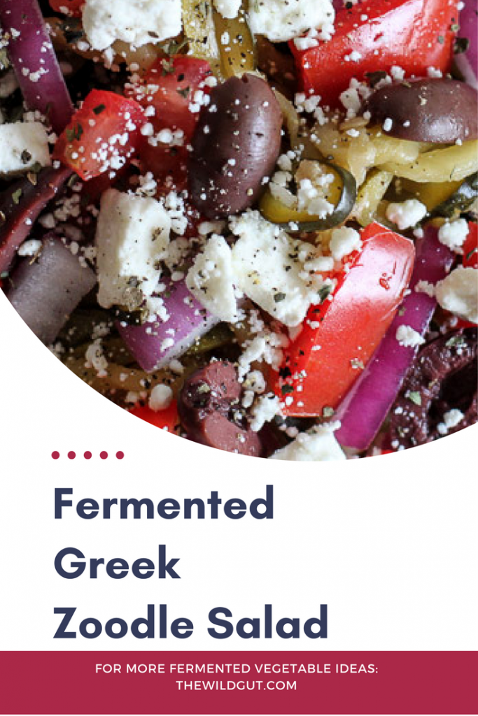 Fermented Greek Zoodle Salad Recipe