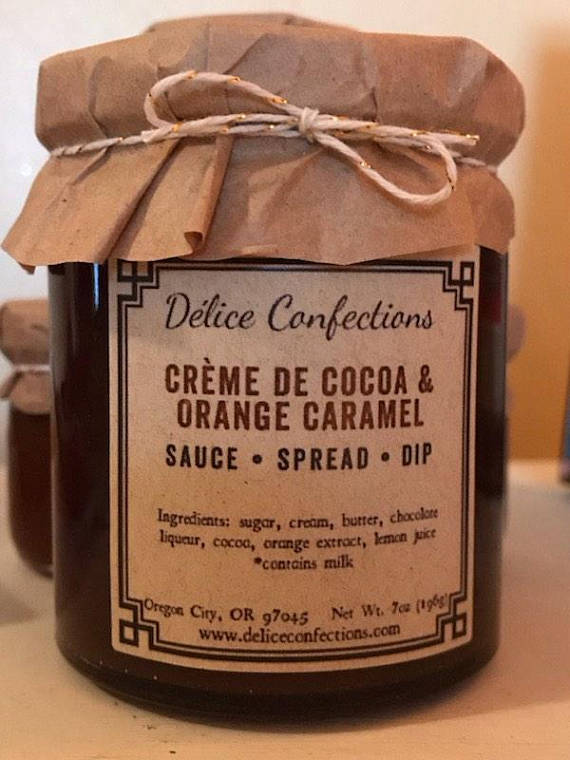 Chocolate orange caramel sauce