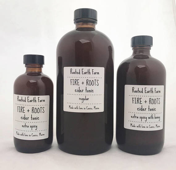 fire and roots cider tonic from Etsy