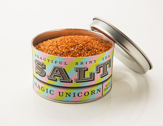 Magic Unicorn Sea Salt Blend, available on Etsy!