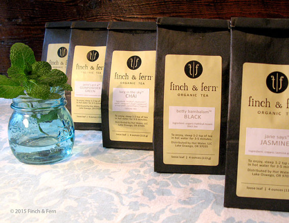 organic loose leaf tea from Etsy
