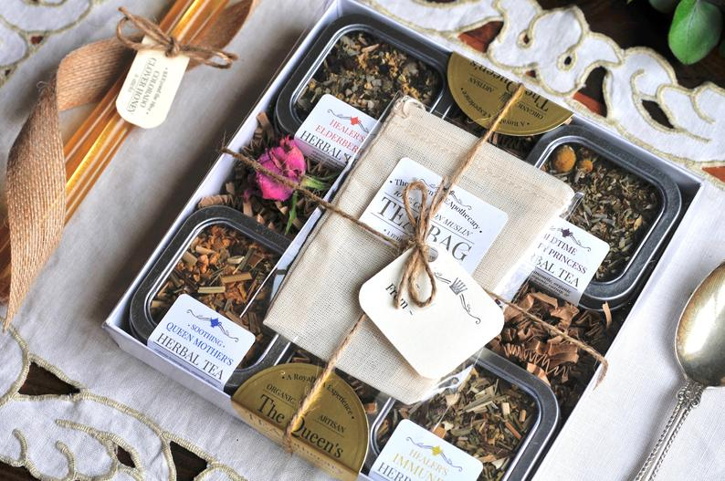 Organic tea gift set from etsy makes a great holiday gift