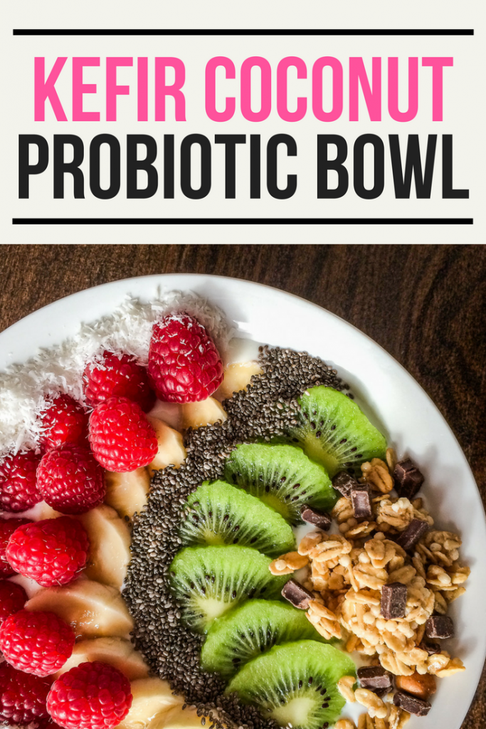 Easy kefir coconut probiotic bowl recipe!
